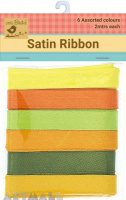Satin Ribbon12 mm Citrus 12mtr