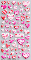 "Stickers ""Pink Hearts"""