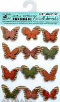 Corrugated & Kraft Printed Butterflies 12Pc