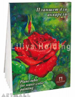 "Plane-table for water-color painting ""Red rose"""