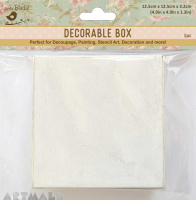 "White Washed Alterables Square 5""X5"" Big 1pc"