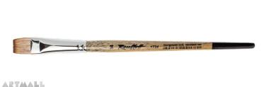 Flat brush synthetic mongoose  imitation №14