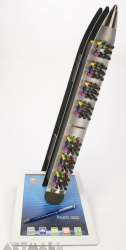 """Display """"Penna Touch"""" with pens decorated by Swarovsky crystal, 64 pens"""