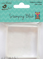 Acrylic Stamping Block 2inch 20mm 1pc