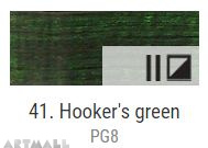 Oil for ART, Hookers green 60 ml.