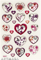 "Stickers ""Flowers & Hearts"""