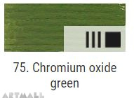 Oil for ART, Oxide of chromium green 20 ml.