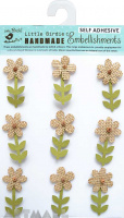 Burlap Stem Flowers 9Pc