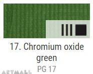 EXTRA Oil paint , Chromium ox. green, 20 ml