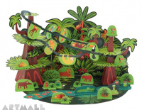 Tropical Forest Paper Toy, size: 48 x 32 x 12 cm