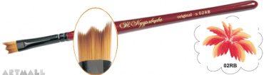 Relief flat brush synthetic №10