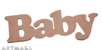 "Wooden sign ""BABY"""