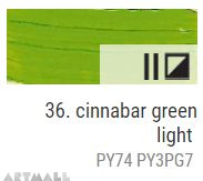 Oil for ART, Cinnabar green light 60 ml.