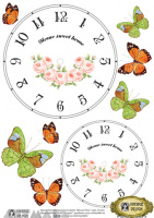 Decals Decoupage Paper A4 '' Watch face ''Sweet Home''