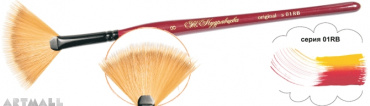 Fan brush, synthetic №02