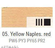 Oil for ART, Napoli yellow reddish 60 ml.