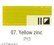 Oil for ART, Zinc yellow 60 ml.