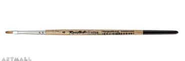 Flat brush synthetic mongoose  imitation №4