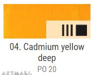 EXTRA Oil paint , Cadmium yellow deep, 20 ml