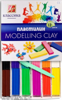 "Modelling clay ""Classic"" 12 colors, 240gr"