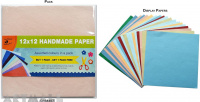 Handmade Paper Pack 12x12inch Assorted Colour 200gsm