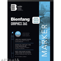 Art Products Bienfang Graphics 360 Marker Paper Pad 9-inch x 12-inch