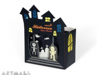 Halloween Paper Theater, size:11 x 6 x 15 cm