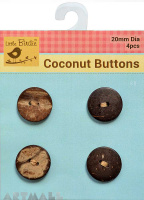 Coconut Button Medium 2 Hole 4Pc