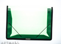 4162 File clear case, Green. size: 33,5x25 cm