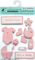 Baby Girl Embellishments Pink 11Pcs