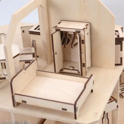 Mini wooden furniture - bedroom