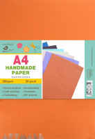 A4 Handmade Paper Assorted Color 200gsm, 20 Sheets