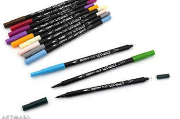 Le Plume II Double-Sided Watercolor Marker, №105 Light Teal
