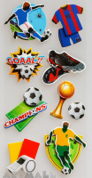 "3D Stickers ""Champions"""