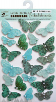 Pearl Butterfly Blue 17Pc