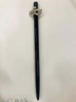 Ballpen 16 cm, with decorative mask, original Swarovski on top of the pen, crystal color