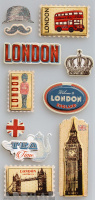 "3D Stickers ""Old London"""