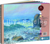 "Pastel book ""Aquamarine"", with ""Canvas"" embossment"