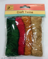 Craft Twine Assorted pack of 4 pcs