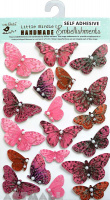 Pearl Butterfly Pink 17Pc