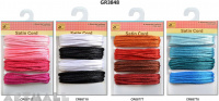 Satin Rattail Cord 8mtr, 4 types assorted