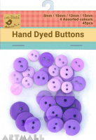 Asstd Size Button Grape Crush 45Pc