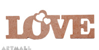 "Wooden sign ""LOVE"""