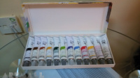 Gouache cardboard box 12 assorted tubes 20 ml