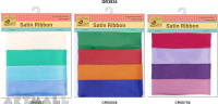 Satin Ribbon 2.24 cm x 6 mts, 4 types assorted