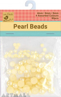 Pearl Beads D/6/8mm Assoted 90Pc