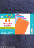 A4 Leather Board Assorted Colours 200gsm, 6 pcs