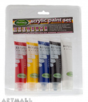 Acrylic Paint Set Primary Colours