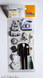 """3D Stickers """"Wedding Dress"""""""