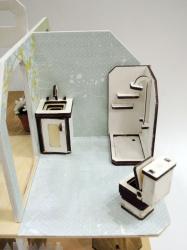 Mini wooden furniture - bathroom